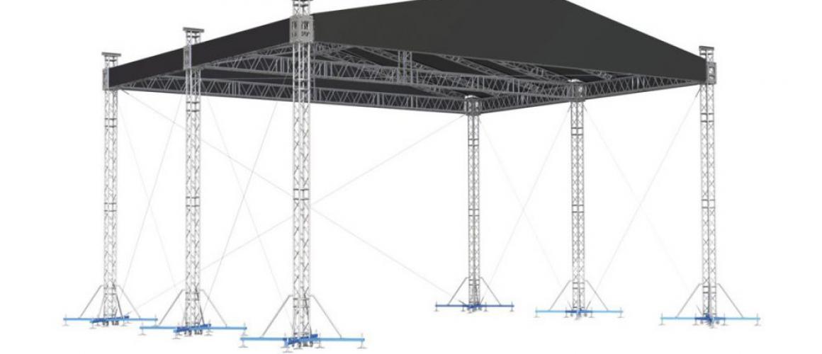 Двухскатная крыша / граунд 10х8 AluStage Alustage GR HD