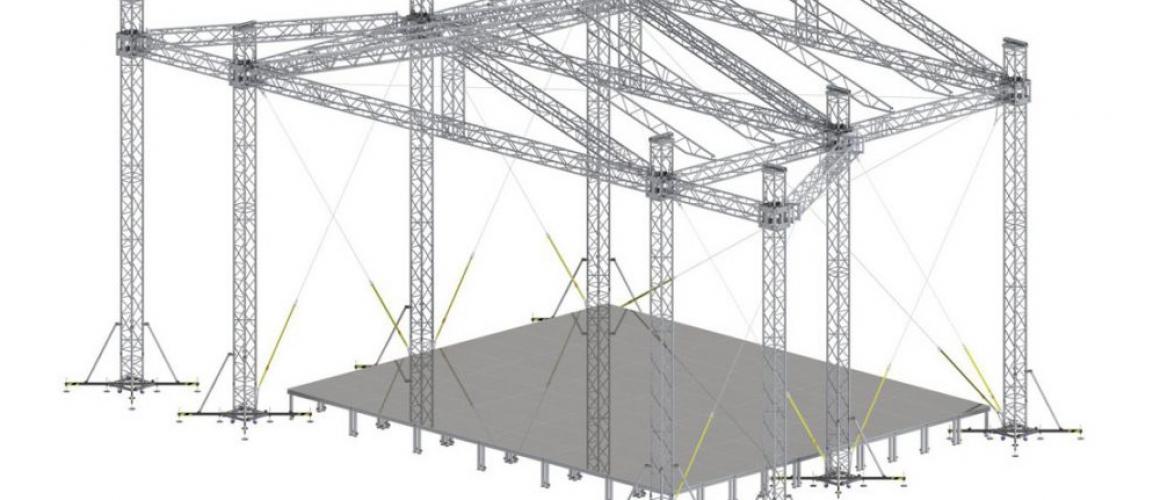 Двухскатная крыша / граунд 12х10 Alustage GR HD