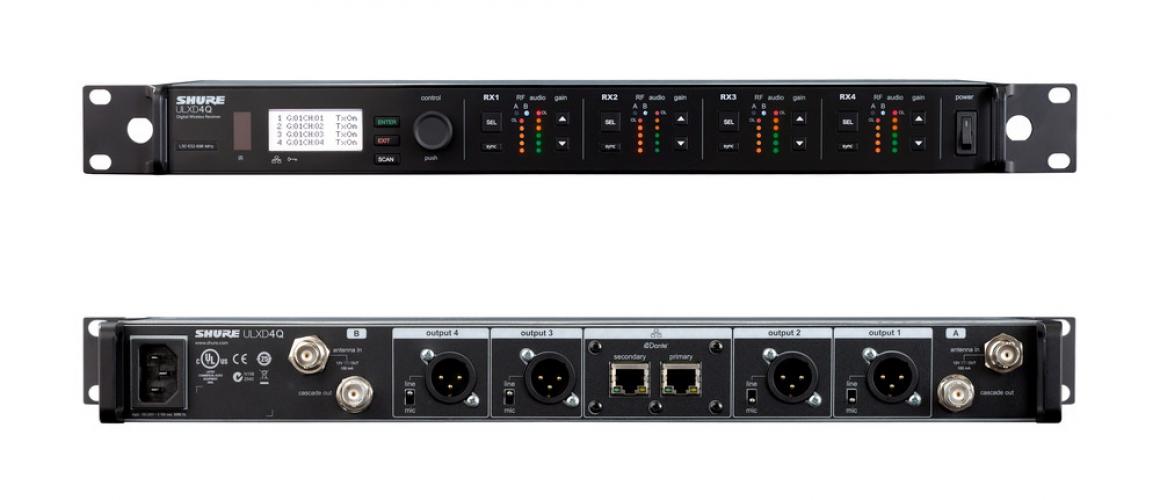 Четырехканальный цифровой приемник SHURE серии ULXD