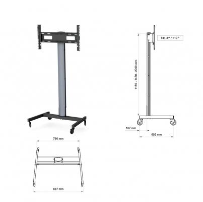 Cтойки для панелей до 60″ или до 35 кг. SMS FH MT2000